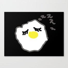 sleepy egg Canvas Print