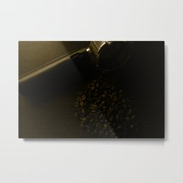 Espresso filter and coffee beans tint Metal Print