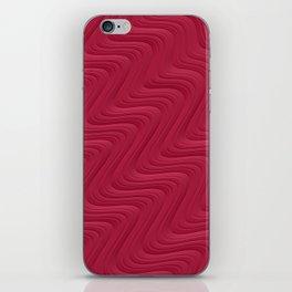 Crimson Waves iPhone Skin
