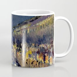 Camille Pissarro - Boulevard Montmartre at Night Coffee Mug