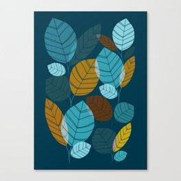 Dark Forest / Abstract Leaf Illustration Canvas Print