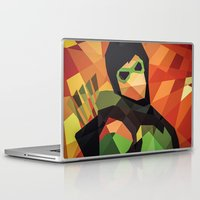 green arrow Laptop & iPad Skins featuring DC Comics Green Arrow by Eric Dufresne