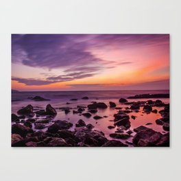 Waterscape with Sunset Canvas Print