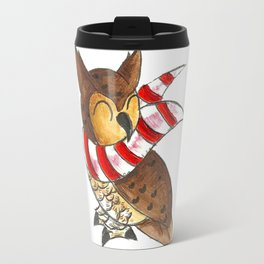 Cozy Christmas Owl Travel Mug