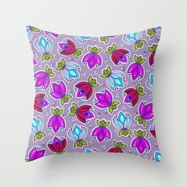 Pop Off Floral Throw Pillow