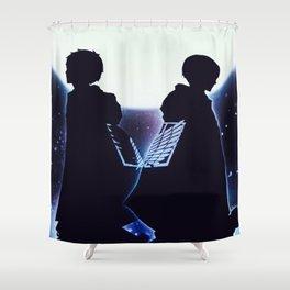 Attack On Titan Silhouette Shower Curtain