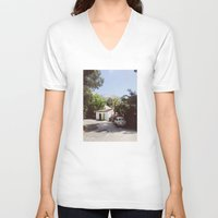 hollywood V-neck T-shirts featuring Hollywood, California by Kevin Russ