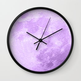LAVENDER MOON Wall Clock