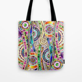 Mosaic colorful background Tote Bag