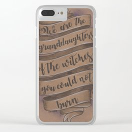 We Are... Clear iPhone Case