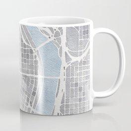 Portland Oregon watercolor city map art Coffee Mug