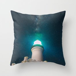 Byron Bay Lighthouse and the Milky Way Throw Pillow