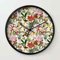 botanical Wall Clocks featuring Botanical by Bambouchic