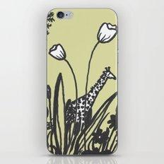 Flowers and Giraffe iPhone & iPod Skin