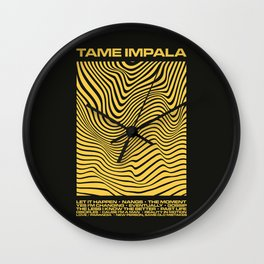 Tame Impala Currents Design Wall Clock
