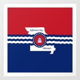 flag of Jefferson,missouri Art Print