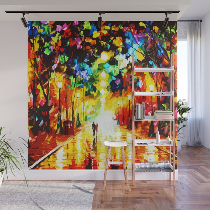 Tardis Art Painting Starry Night Wall Mural by mahniar Society6