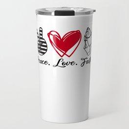 Peace Love Faith gift prayer Travel Mug