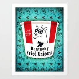 Kentucky Fried Unicorn Art Print