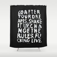 live Shower Curtains featuring LIVE by WRDBNR