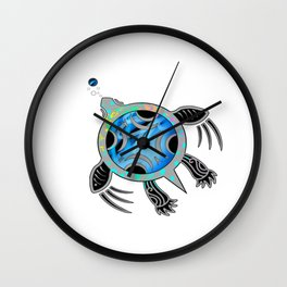 Painted Sea Turtle Wall Clock