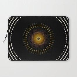 Modern Circular Abstract with Gold Mandala Laptop Sleeve