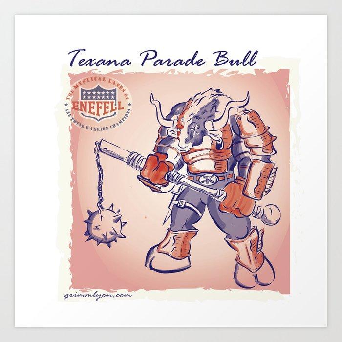 Texana Parade Bull Art Print