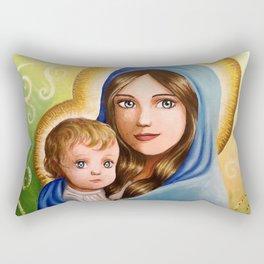Madonna and Child Rectangular Pillow