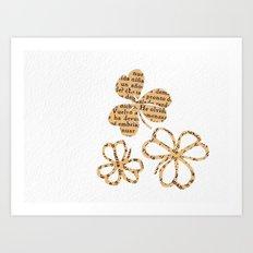 PAPERCUT FLOWER 4 Art Print