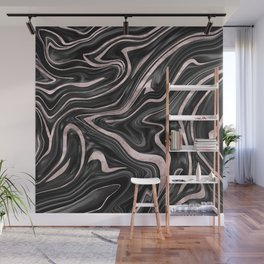 Black Gray White Rose Gold Marble #1 #decor #art #society6 Wall Mural