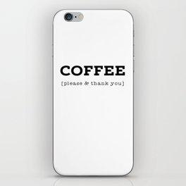 Coffee P's & Q's iPhone Skin