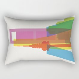 Shapes of Madrid. Accurate to scale. Rectangular Pillow