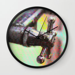 Holographic valve collage Wall Clock