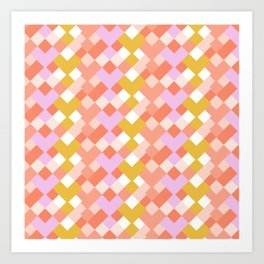 Geometic Summer Pattern Art Print