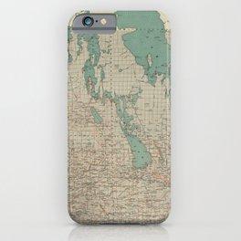 Vintage Map of Manitoba (1915) iPhone Case