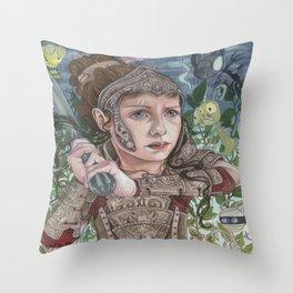 Dragon Warrior Throw Pillow