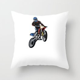 Awesome Dirt Bike Out Motocross Gift Cool MX Dirt Bike Product Throw Pillow