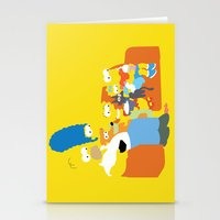 simpsons Stationery Cards featuring The Simpsons - Family by TracingHorses