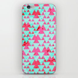 Watercolor Triangle Party iPhone Skin