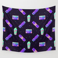 skateboard Wall Tapestries featuring Sk80s by badOdds