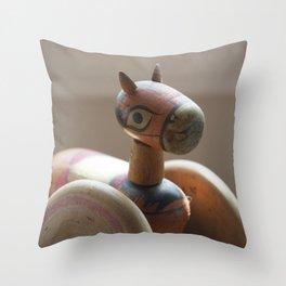Horse on Wheels Throw Pillow