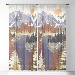 Autumn River Sheer Curtain