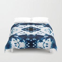 Velvet Shibori Blue Duvet Cover