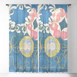 12,000pixel-500dpi - Hilma af Klint - Group IV, The Ten Largest, No. 1, Childhood - Digital Remaster Sheer Curtain