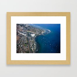 Woman of the Beach Framed Art Print