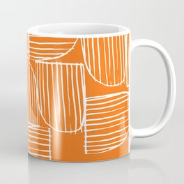 Mid-Century Modern 1950's Orange Juice Mimosa Colored Abstract Coffee Mug