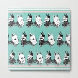 Mask Montage Metal Print