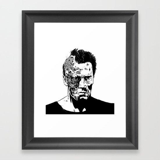 Terminator (b/w) Framed Art Print