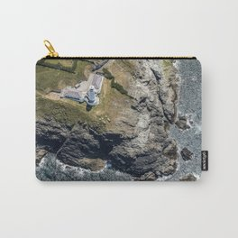 Aerial views over Trevose Lighthouse, Cornwall Carry-All Pouch