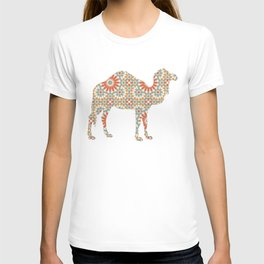 CAMEL SILHOUETTE WITH PATTERN T-shirt